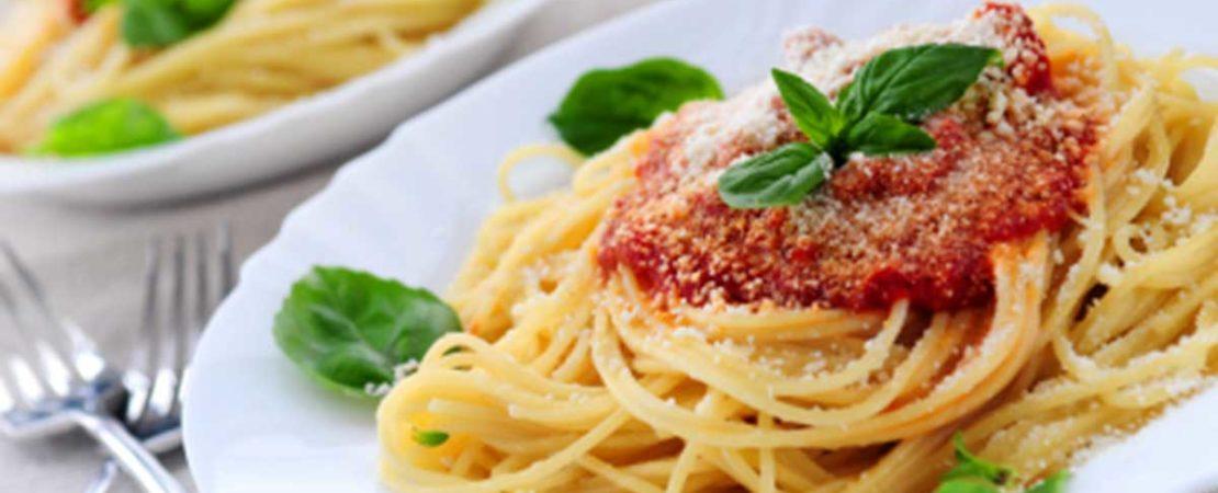 Bel piatto di spaghetti