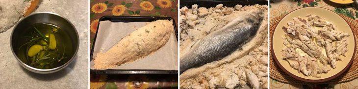 Cottura pesce al sale