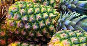 Ananas appoggiati