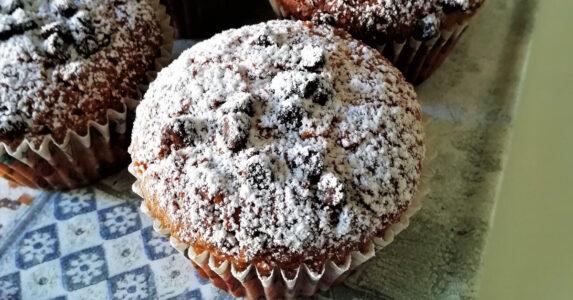 Muffin Con Gocce di Cioccolato Senza Glutine